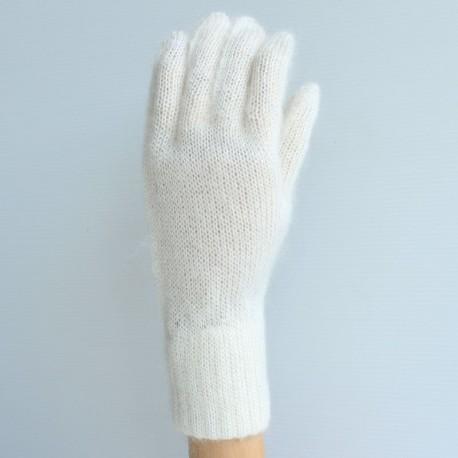 Gants en laine mohair et soie