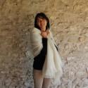 Les étoles tissées en laine mohair et soie