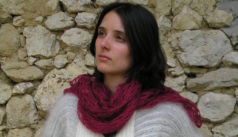 Carré tricoté mohair