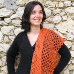 Les carrés en laine mohair et soie