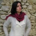 FOULARDS ECHARPES en laine mohair de chevreau et soie