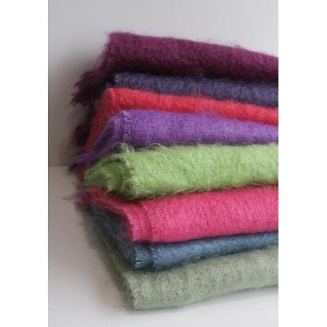 Les écharpes en laine mohair et soie