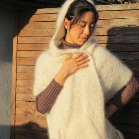 Les étoles à capuche en pure laine mohair de chevreau 089816af99d