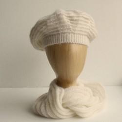 Snood mixte laine mohair de chevreau et soie naturelle