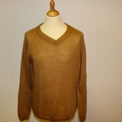 pull col v homme en laine mohair de chevreau et soie