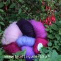 Les pelotes nuage en laine mohair de chevreau et soie pour des ouvrages fins et vaporeux