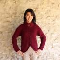 Veste en mohair de chevreau VANNERIE tricoté à la main