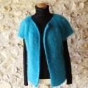 Gilet en laine mohair de chevreau YSEULT