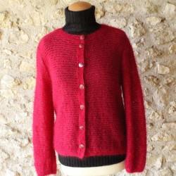 veste dentelle en laine mohair de chevreau et soie