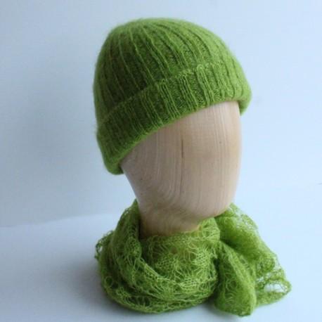 Bonnet femme Bonchô en laine mohair