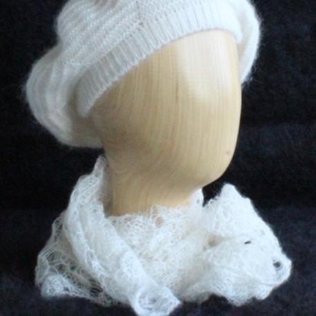 tour de cou voile en laine kid mohair et soie