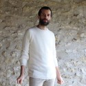 Pull homme col rond laine mohair et soie