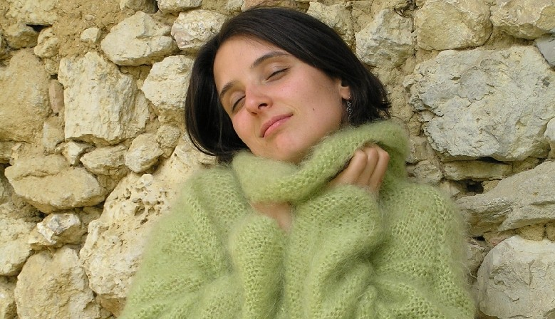 Pull pur kid-mohair femme cocoon